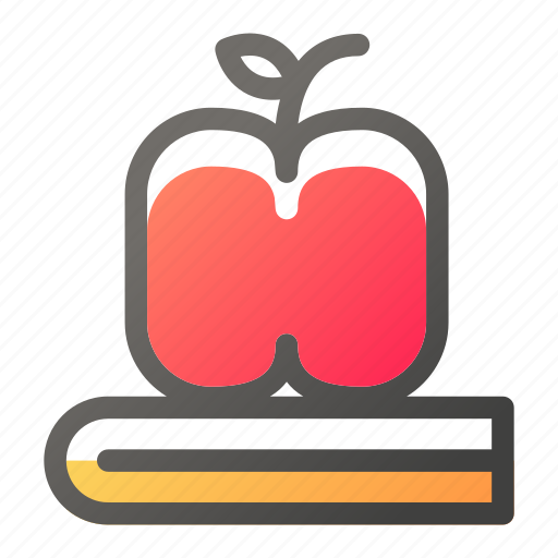 and, apple, book, education, learn, school, study icon