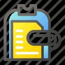 clipboard, document, education, learn, school, study icon