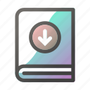 book, download, education, learn, school, study icon