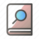 book, education, learn, school, search, study icon