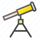 education, learn, study, telescope icon