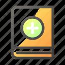 add, book, education, learn, school, study icon