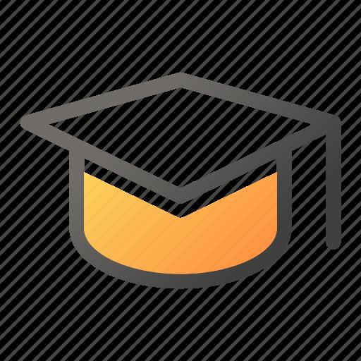 degree, education, hat, learn, school, study icon