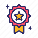 award, medal, reward, star icon