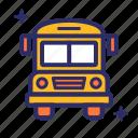 bus, school, transport, vehicle