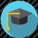 cap, college, graduation, hat