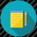 essay, pen, pencil, write icon