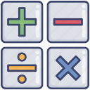 algebra, calculus, education, math, mathematics, minus, plus icon