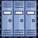 education, gym, locker, lockers, school, storage icon