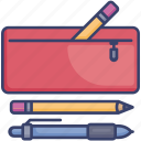 case, education, pen, pencil, school, tools icon