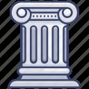 building, construction, education, greek, pillar, school icon