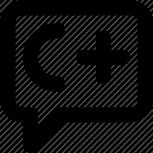 c+, chat bubble, development, programming, programming language icon