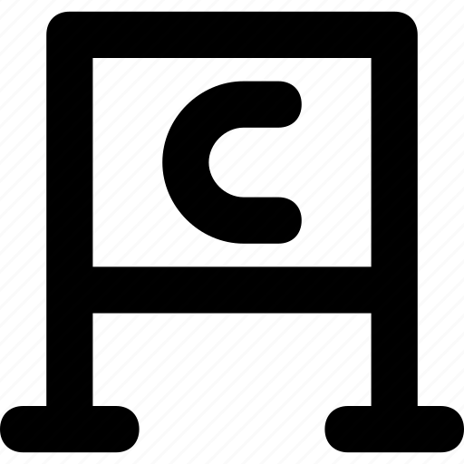 alphabet, chalkboard, classroom, english, whiteboard icon