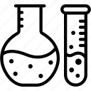 chemistry, erlenmeyer, flask, laboratory, research, science icon