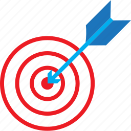 arc, arrow, education, target icon