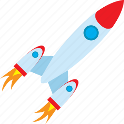 education, focus, rocket, speed icon