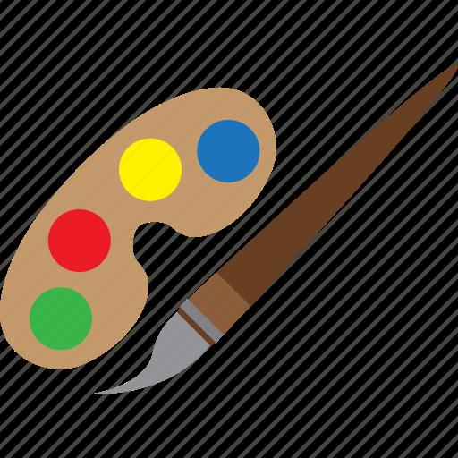 color, education, paint, wonderful icon