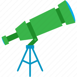 education, luv, star, telescop icon