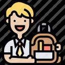 bag, school, student, backpack, study