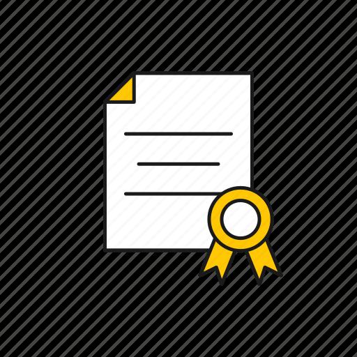 achievement, certificate, degrees, diploma icon
