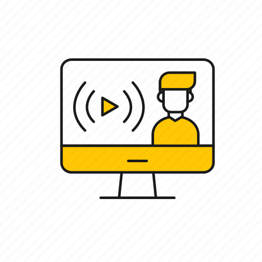 computer, learn, lesson, online, study, teacher icon
