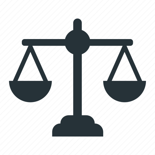 court, justice, law, lawyer, scale icon