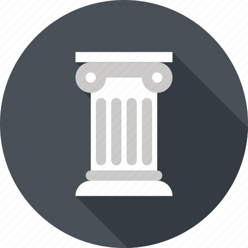 ancient, column, greek, history, pillar, rome, travel icon