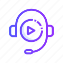 audio, course, media, multimedia, speaker icon