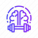 brain, human, mind, thinking, training, traning icon