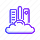 cloud, communication, interaction, internet, library icon
