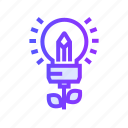 idea, innovation, light, lightbulb icon