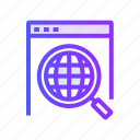 magnifier, magnifying, research, search icon