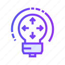 bulb, creative, idea, light, share icon