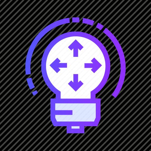 bulb, creative, idea, light, share icon