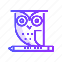 owl, smart, animal, bird, nature