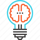 brain, brainstorm, bulb, creativity, idea, imagination, light icon