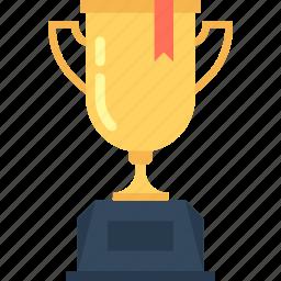 achievement, cup, goblet, prize, reward, success, trophy, win icon
