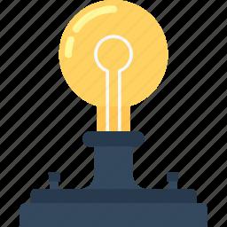 bulb, energy, idea, imagination, light, physics, power icon