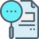 business, document, education, file, learning, research, search icon