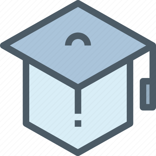education, graduation, hat, learning icon