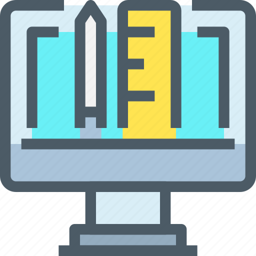 Computer, education, digital, learning, learn icon - Download