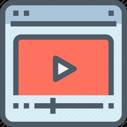 education, learning, media, movie, tutorial, video icon