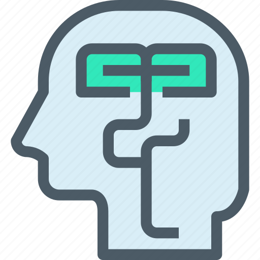 education, head, human, idea, learning, mind icon