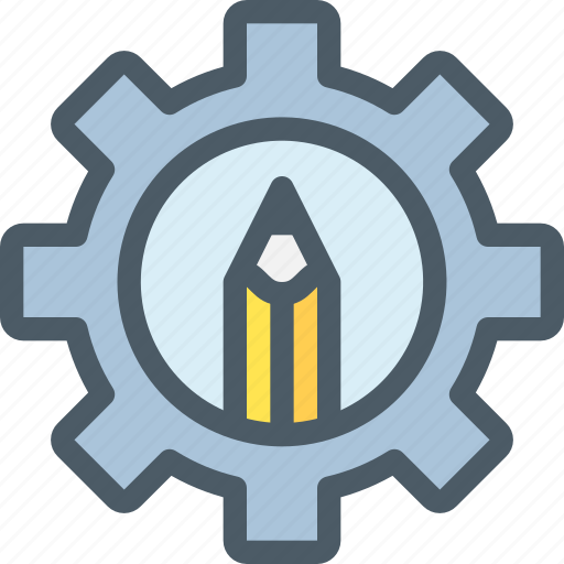 Education, gear, learning, process icon - Download on Iconfinder