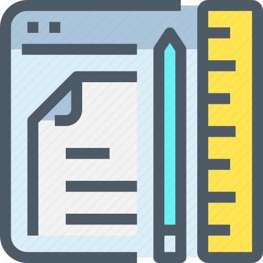 browser, document, education, learn, learning, online icon