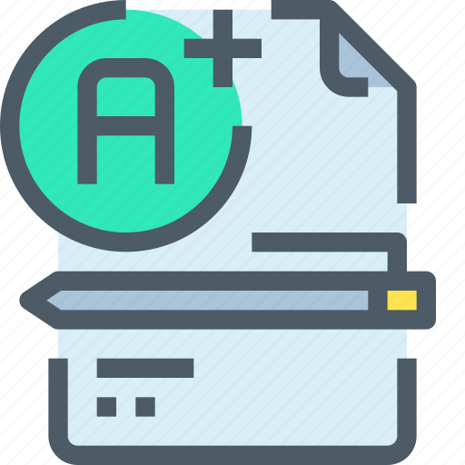 Document, education, learn, learning, pencil, school, testing icon - Download on Iconfinder