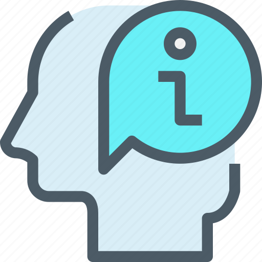 Head, thinking, mind, learning, learn, education, think icon