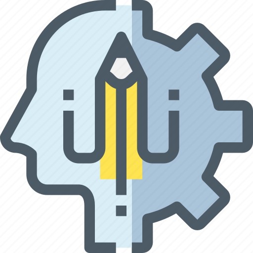 Education, gear, head, human, learn, learning, process icon - Download on Iconfinder