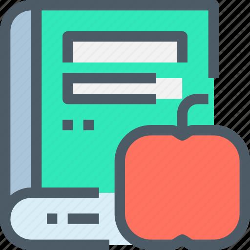 apple, book, education, learn, learning, school icon
