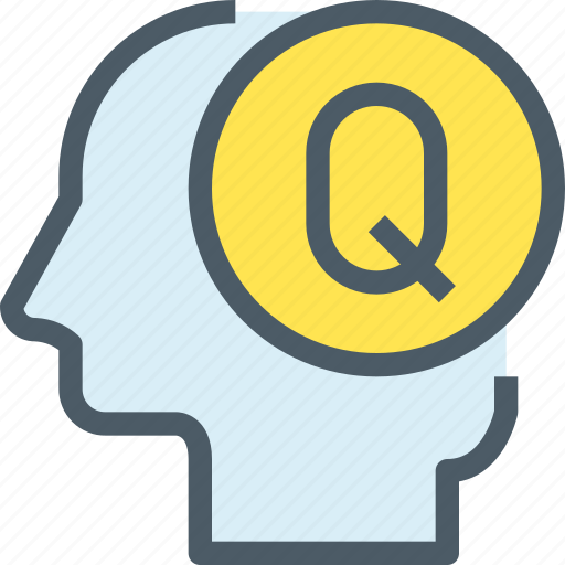 Head, human, mind, question, learning, education icon